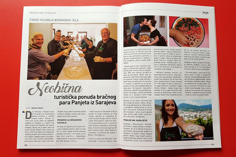 Bosnian cooking lessons in magazine for travelers